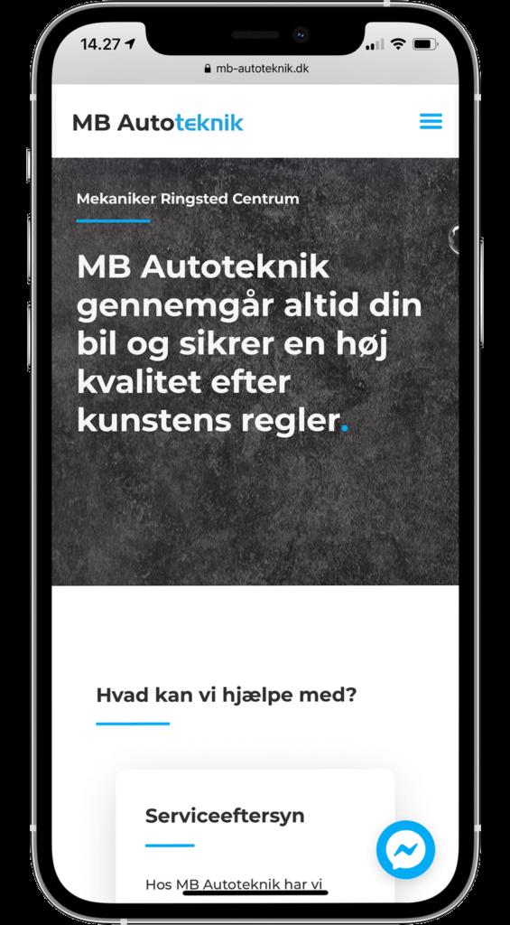 Webbureau i Ringsted leverer hjemmeside til MB Autoteknik